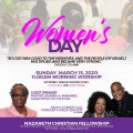 Women's Day: A Matter of Life and Death - Pastor Sandra A. Manning